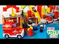 LEGO Duplo Fire Station 6168 4 Variants Of Building Unboxing Review With Flashing Fire Truck mp3
