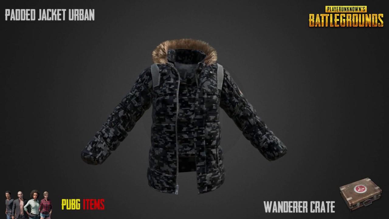 Padded Jacket Urban Pubg Item Showcase Youtube