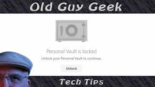 Microsoft OneDrive Personal Vault for Online Secure Documents