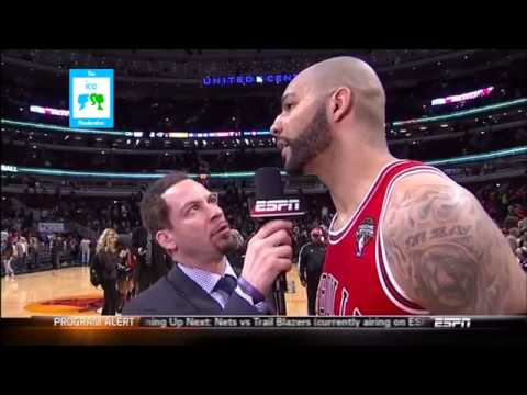 Chicago Bulls Luol Deng and Carlos Boozer Post Game Interview after Miami Heat Game