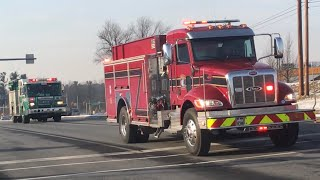 Township of Spring Fire Rescue Tanker 85 & Greenfields Fire Co Engine 55-1 Responding 2/2/19