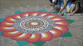 Indian Rangoli Got First Prize in Rangoli Competition | Ever Green Rangoli | Traditional Rangoli