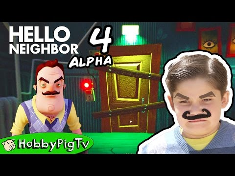 Hello Neighbor Alpha 4 Get to the Basement HobbyPigTV