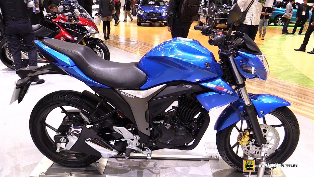 2016 Suzuki Gixxer 155 Walkaround 2015 Tokyo Motor Show Youtube