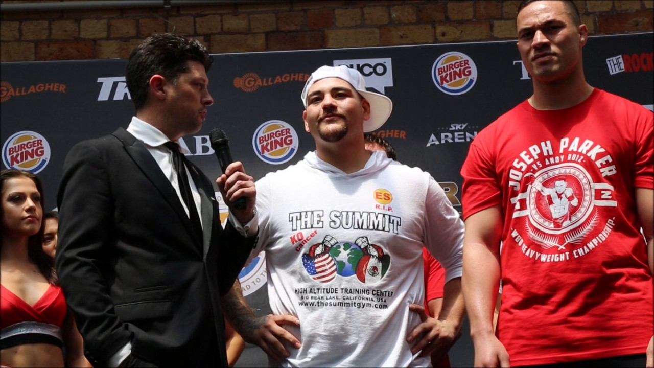 cheap for discount 2c070 83e2e Joseph Parker vs Andy Ruiz Jr WEIGH IN