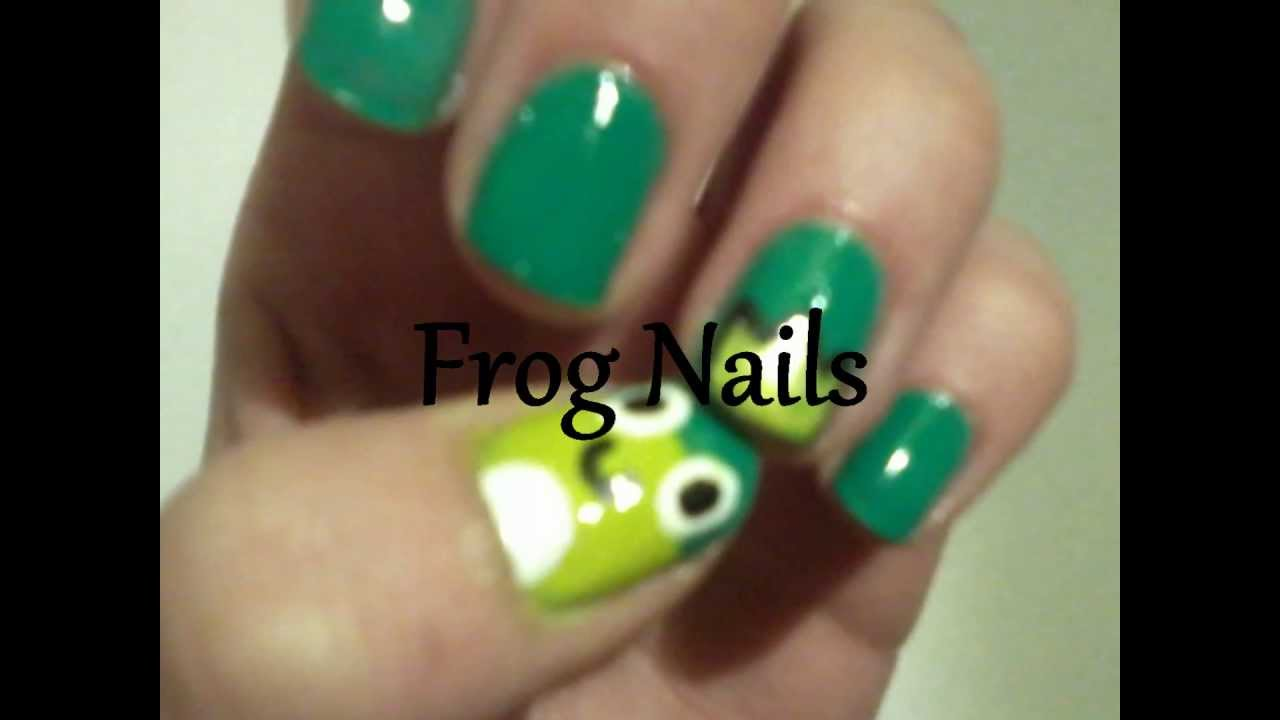 Frog Nails (nail art) - YouTube