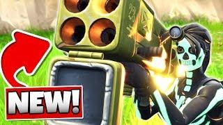 FORTNITE *NEW* Quad Rocket Launcher Gameplay in (Fortnite: Battle Royale)