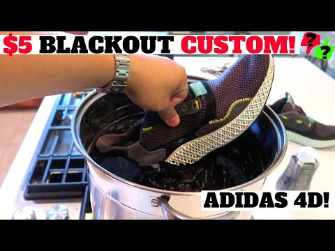 HOW TO DYE adidas 4D FUTURECRAFT BLACKOUT MIDSOLE FOR $5?! TUTORIAL