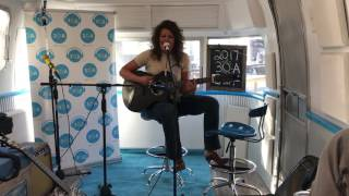Hannah Dasher in the 30A airstream! 30A Songwriters Fest 2017