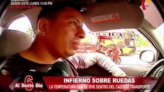 Baixar Intenso calor en Lima convierte en un infierno el transporte público