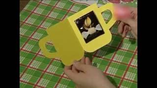 HAND MADE Открытка Чай с конфеткой