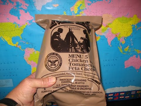 US MRE 2012 Menu 5 Review, Chicken with Tomato and Feta Cheese