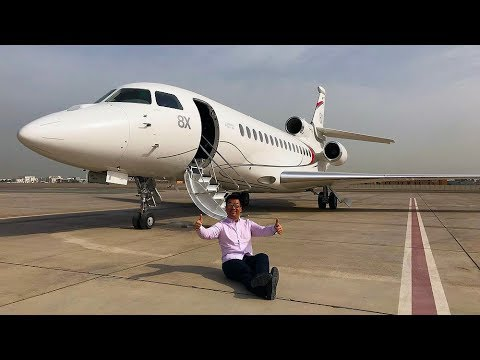Flying Dassault Falcon 8X Private Jet to Paris