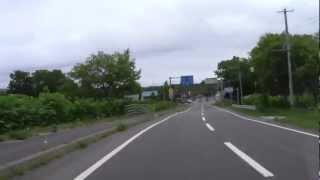 【4倍速】 音威子府駅~歌登~枝幸市街まで 2012年7月