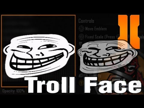 Black Ops 2 - Best Troll Face Emblem Tutorial