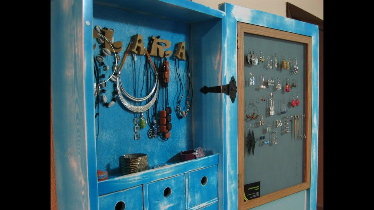 Espejo joyero de cuerpo entero jewelry mirror cabinet for Espejo pared cuerpo entero