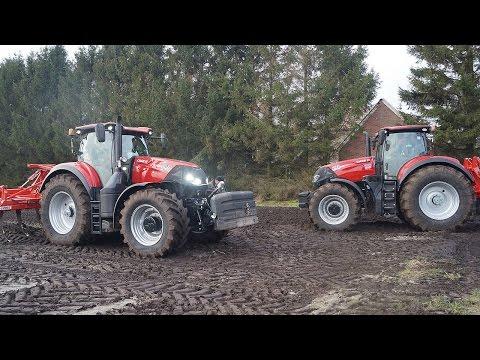 New Case-IH Optum 300 en 270 CVX working in the field with Evers Agro Trekkerweb