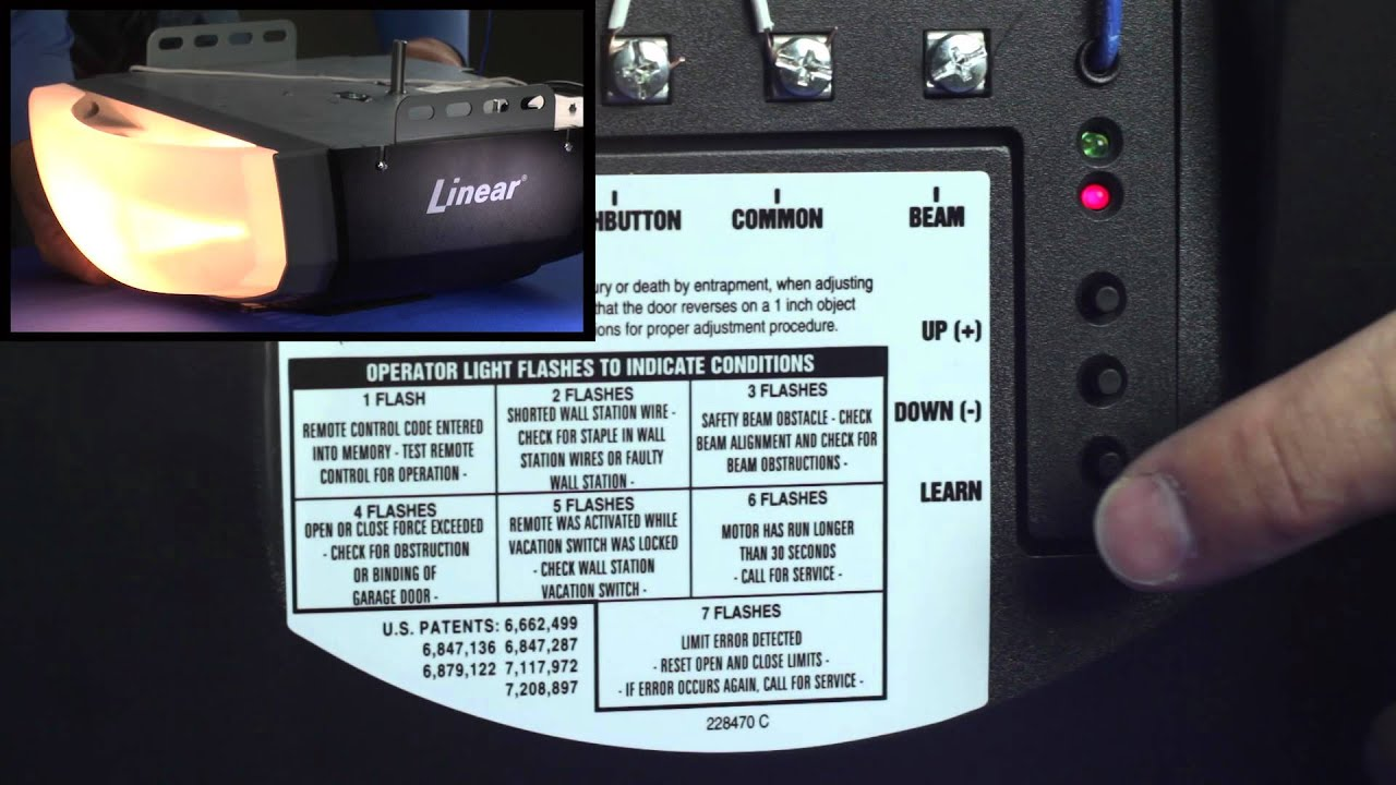 Linear Ldco800 How To Program Delete Remotes