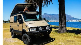 Ep 2 Iveco 4x4 camper van tour-The ultimate go anywhere tiny diy expedition vehicle