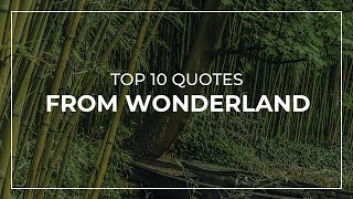 TOP 10 Quotes from Wonderland   Daily Quotes   Amazing Quotes   Quotes for Pictures
