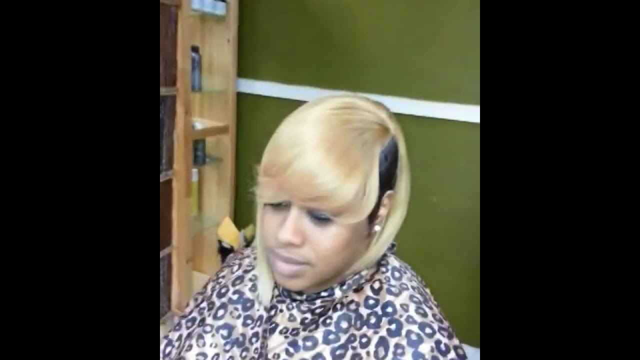 Half Blonde Bob Quick Weave Youtube