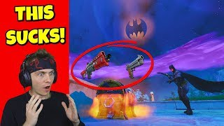 i can ONLY use BATMAN city weapons to win in fortnite... (so annoying)