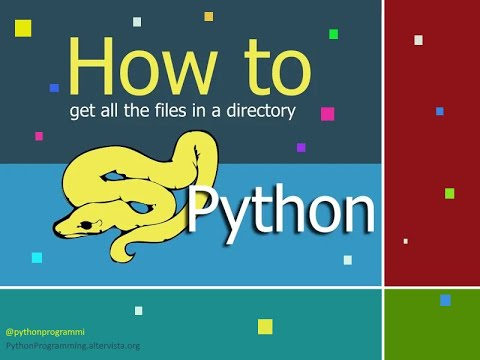 How to get all the file in a directory | python programming