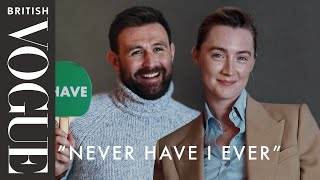 """Saoirse Ronan & James McArdle Play """"Never Have I Ever""""   British Vogue"""
