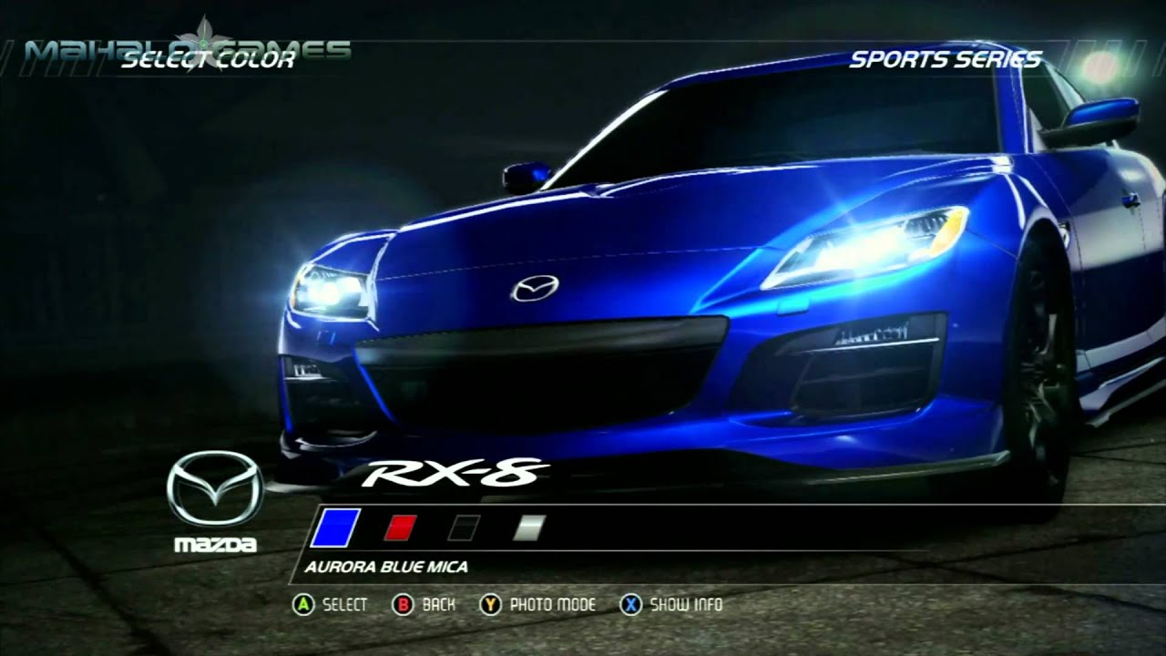 need for speed hot pursuit- cars- mazda rx-8 - youtube