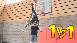 One of Jesser's most viewed videos: 1 V 1 VS HIGHSCHOOL #1 PG ALL AMERICAN  JAYLEN HANDS!