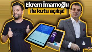 Ekrem İmamoğlu ile kutu açılışı! 40.000 tablet ücretsiz