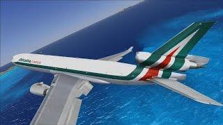 FSX | Let's Play Air Hauler Episode #97 - Back to Casablanca | Last MD-11 Flight