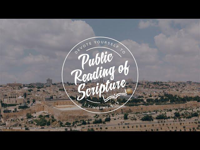 Public Reading of Scripture, September 13, 2020