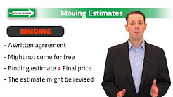 Types of Moving Estimates - Video Moving Tips