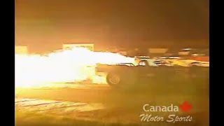Jet Cars on the drag strip night Sept 2003