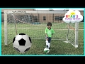 Family Fun Kids Outdoor Activities! Ryan First Soccer Practice and First Game Highlights!