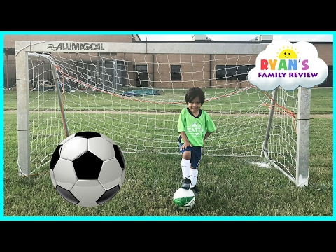Thumbnail: Family Fun Kids Outdoor Activities! Ryan First Soccer Practice and First Game Highlights!