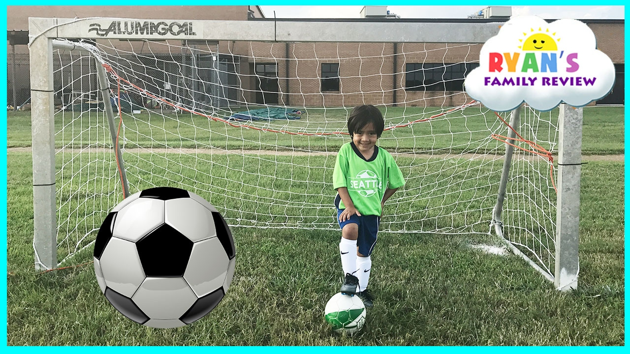 5e177300d3420 Family Fun Kids Outdoor Activities! Ryan First Soccer Practice and ...