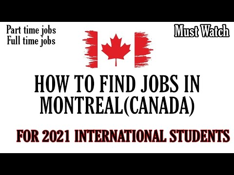 How To Find jobs In Montreal | Canada | International Students | Part time jobs|