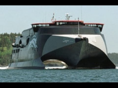 The World's fastest car and passenger ferry