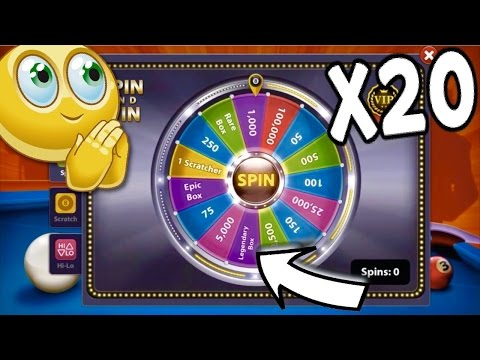 Thumbnail: 8 Ball Pool - SO LUCKY!! Opening 20 Spin and Wins! | Trick Shots/Bank Shots [No Hack/Cheat]