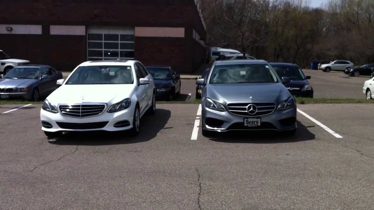 2014 mercedes benz e350 sport and luxury model comparison for Different models of mercedes benz