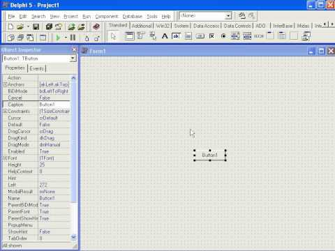 دروس ديلفي الدرس 1   Delphi IDE 1