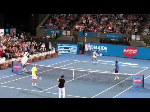 Mansour Bahrami highlights from World Tennis Challenge 2014
