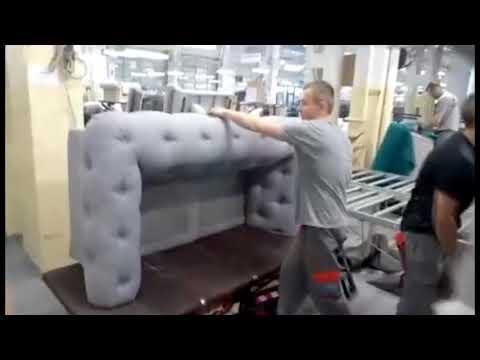 Обивка мягкой мебели с каретной стяжкой. Корпорация Профи