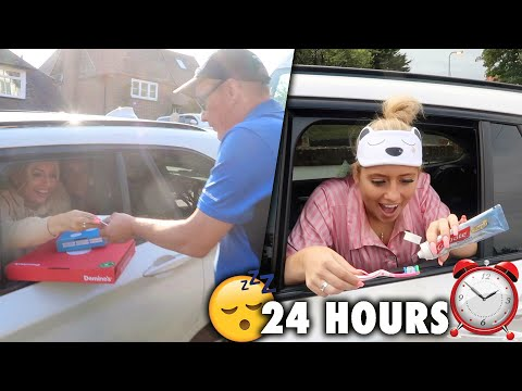 Living in my car for 24 HOURS!!!  😱😭 *and this is what happened*