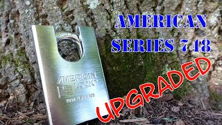 (1327) American Series 748 Padlock Picked & Upgraded