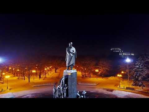 Весёлый паровозик в фонтане Парк Горького Харьков Gorky park Kharkov