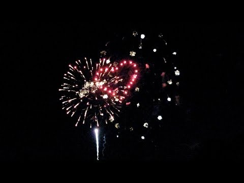 Canada Day Firework 2018. Columbia Lake, Waterloo, Ontario - Canada