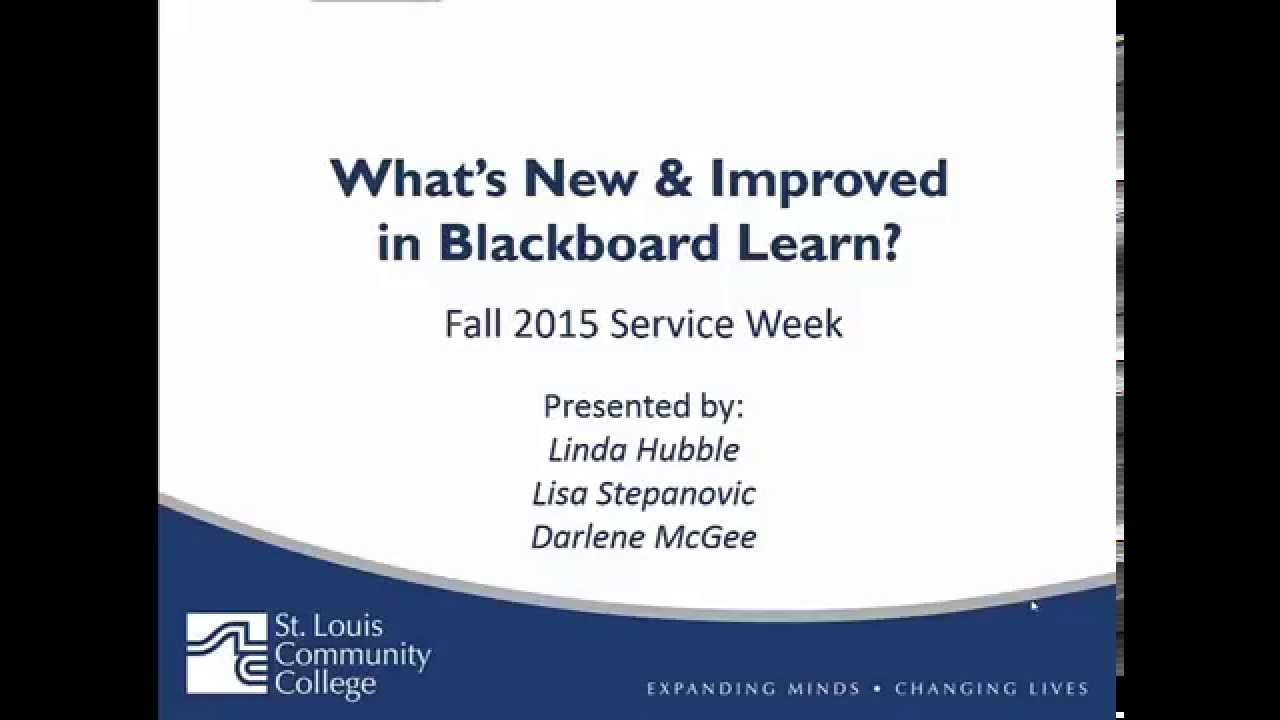 stlcc blackboard Fall 2015 Blackboard Updates - STLCC Meramec - YouTube
